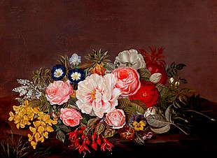 Johan Laurentz Jensen - Still life with flowers