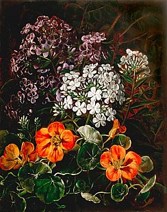 Johan Laurentz Jensen - Flowers piece with cress and phlox