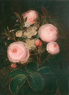 Johan Laurentz Jensen - Still life with roses