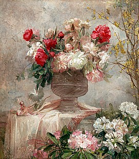 Marie de Bièvre - Huge flowers still life