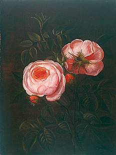 Johan Laurentz Jensen - zugeschr. - Still life with red roses
