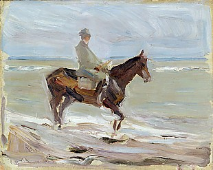 Max Liebermann - Horse rider at the beach