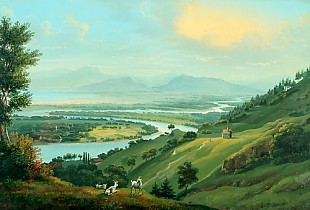 Johann Ludwig Bleuler - The Rhine in the lower part of the Rhine valley