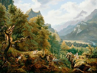 Paul Rötter - Summer day in the Hasli valley
