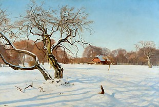 Charles Henrichsen Bremsen - Sunny winter day in the Zoo Dyrehaven