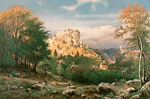 Johann Jakob Reinhardt - View on to Streitberg in Franken