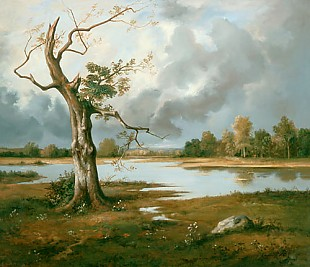 Leon Richet - Landscape in late-sommer