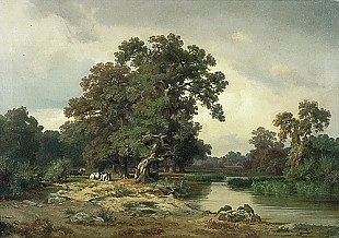Max Schmidt - River landscape with cows