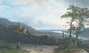George Andreas Roth - Heidelberg at evening