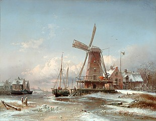 Eduard Schmidt - Winter coast scene