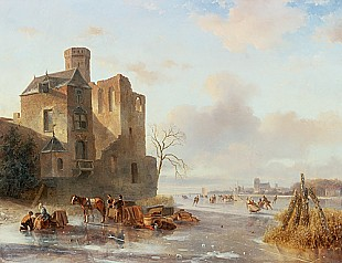 Nicolaas Johannes Roosenboom - Winterly ice pleasure