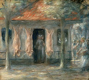 Max Liebermann - Pig slaughterhouse