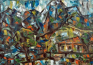 Christian Rohlfs - House in the mountains