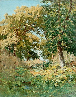 Louis Cabie - Sunny forest glade