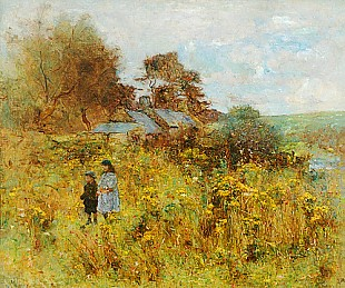 J. Anderson-Hague - Children at a flower meadow