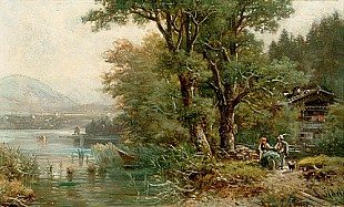 Ludwig Sckell - summerday at sea starnberg