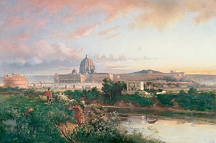 Franz Reder-Broili - Sunrise above Rome