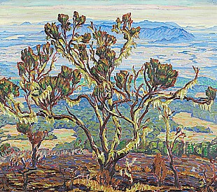 Carl Albert von Salis-Soglio - Trees in a mountain landscape