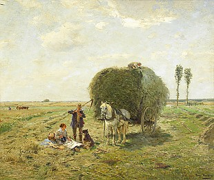 Hugo Mühlig - Rest of haying at midday