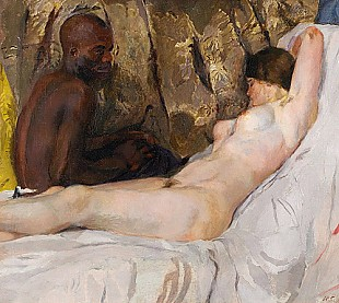 Hans Sutter - Lying nue with African
