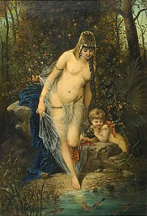 R. Toman - Nymph at a well