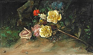 Guillermo Gomez Y Gil - Flower stillife