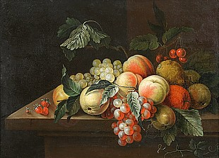Johan Laurentz Jensen - Still life with fruits
