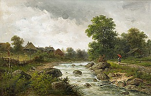 Julius Rose - Brook landscape in Ybbstal