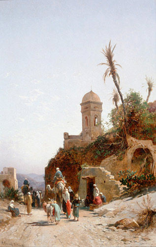 Hermann David Salomon Corrodi - In front of the gates of Jerusalem