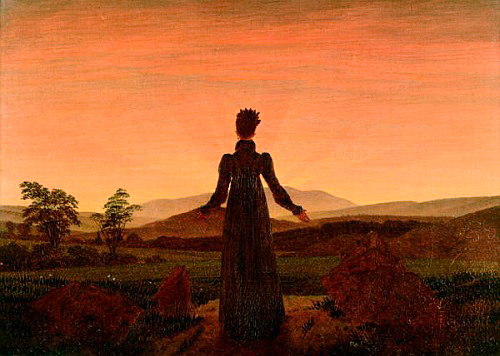 Caspar David Friedrich - Lady in dawn