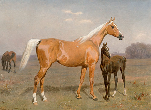 Emil Volkers - Mare and colt at the belt
