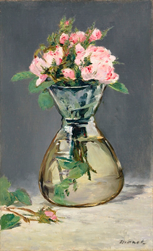 Edouard Manet - Moss Roses in a Vase