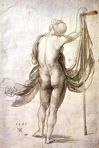 Albrecht Dürer - Nude Study or, Nude Female from the Back