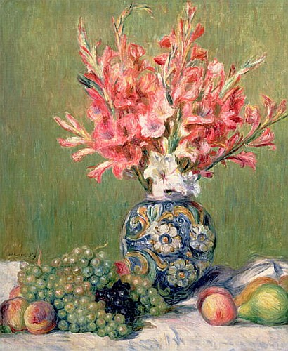 Pierre-Auguste Renoir - Still life of Fruits and Flowers