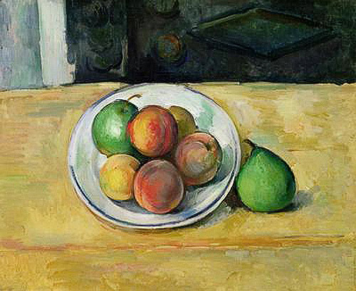 Paul Cézanne - Still Life with a Peach and Two Green Pears