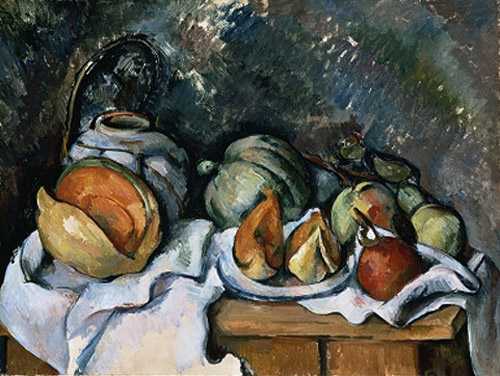 Paul Cézanne - Still Life with Fruit and a Ginger Pot