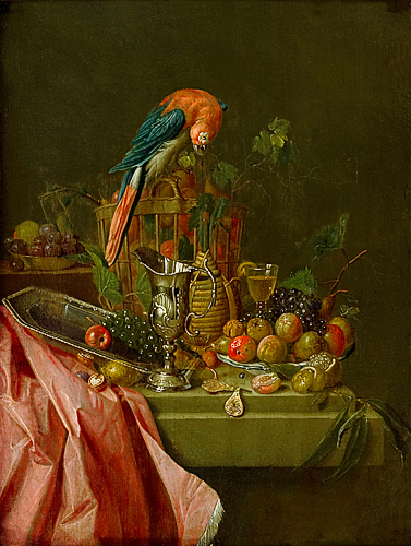 Peter Jacob Horemans - Still life with parrot