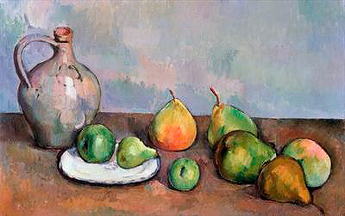 Paul Cézanne - Still Life with Pitcher and Fruit