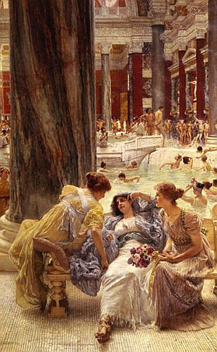 Sir Lawrence Alma-Tadema - The Baths of Caracalla, 1899