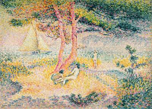 Henri-Edmond Cross - The Beach at St. Clair