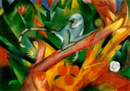 Franz Marc - The little monkey