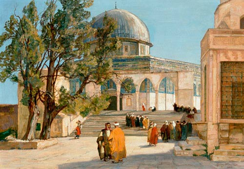 Georg Macco - The Mosque of Omar in Jerusalem