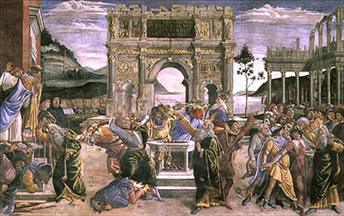 Sandro Botticelli - The Punishment of Korah, Dathan and Abiram