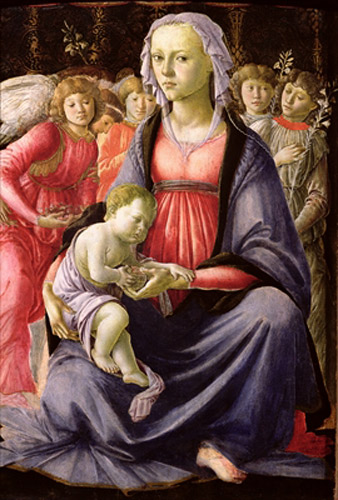 Sandro Botticelli - The Virgin and Child surrounded by Five Angels