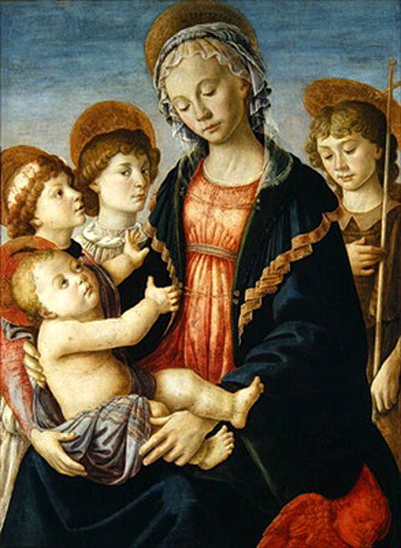 Sandro Botticelli - The Virgin and Child with Two Angels and St. John the Baptist