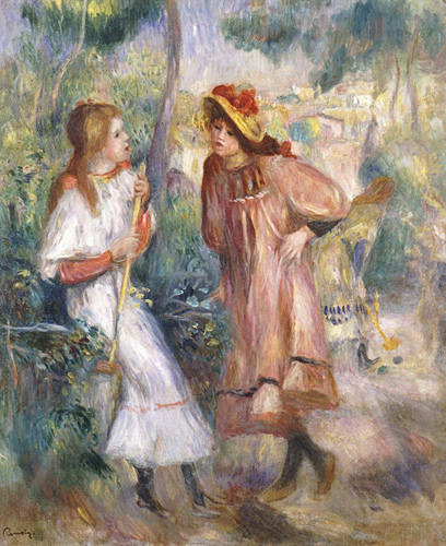 Pierre-Auguste Renoir - Two Girls in the Garden at Montmartre
