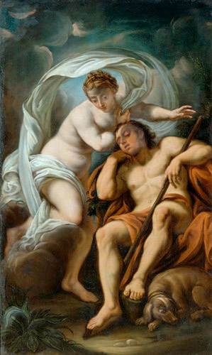 ital. Mythologiemaler - Venus and the sleeping Anchises