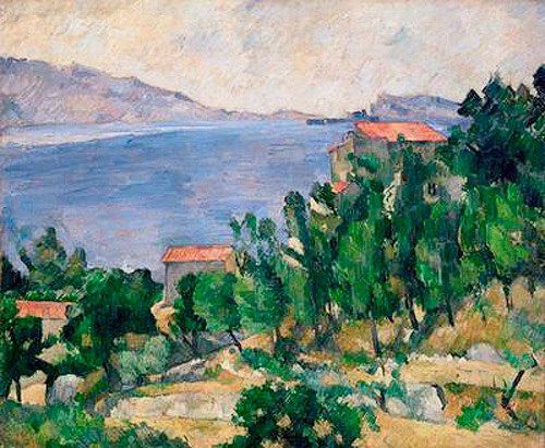 Paul Cézanne - View of Mount Marseilleveyre and the Isle of Maire