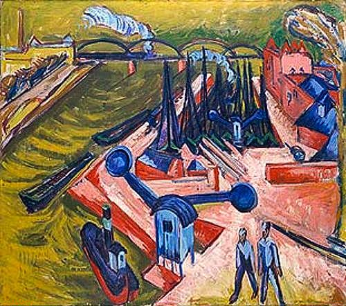 Ernst Ludwig Kirchner - Westport in Frankfurt on the Main