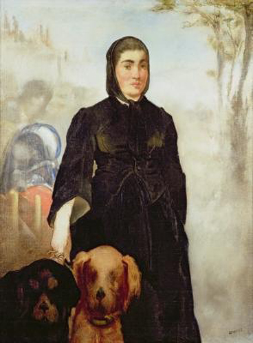 Edouard Manet - Woman With Dogs